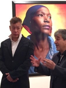 Andres Serrano with director at Maison européenne de la photographie