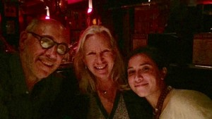Penelope with Howard Greenberg and Rachel Smith during Art Basel week